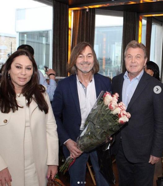 Алла Вербер, Никас Сафронов и Лев Лещенко на одном из мероприятий