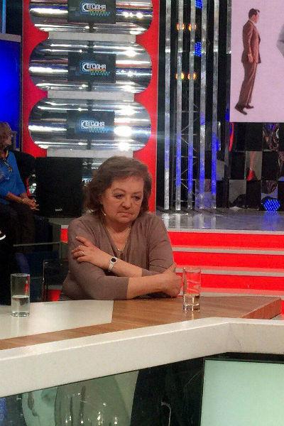Дочь Людмилы Гурченко Мария во время съемки программы