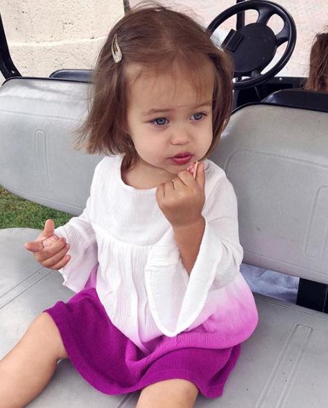 Младшая дочь рэпера Майя