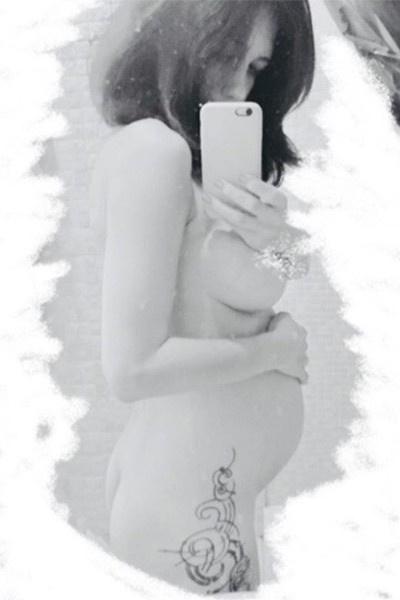 Екатерина Климова фотографировалась обнаженной на пятом месяце беременности