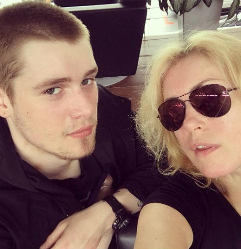Мария Шукшина с сыном