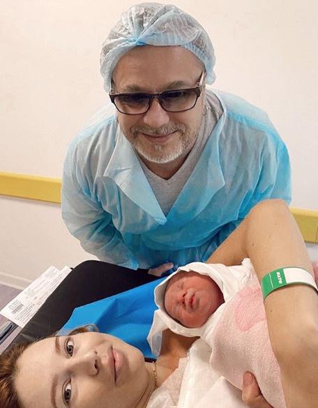 В октябре у пары родился сын