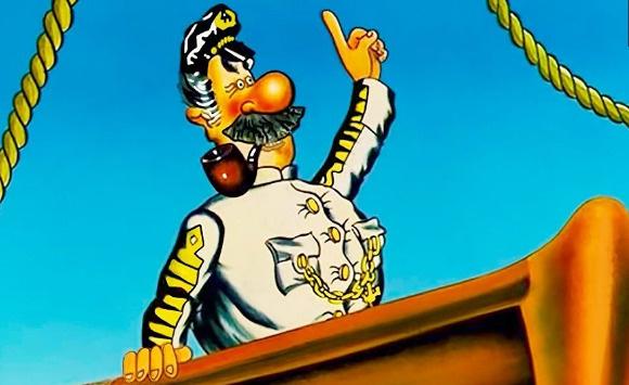 Любимый многими герой мультфильма капитан Врунгель