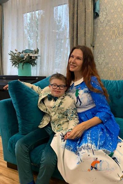 Эвелина с младшим сыном