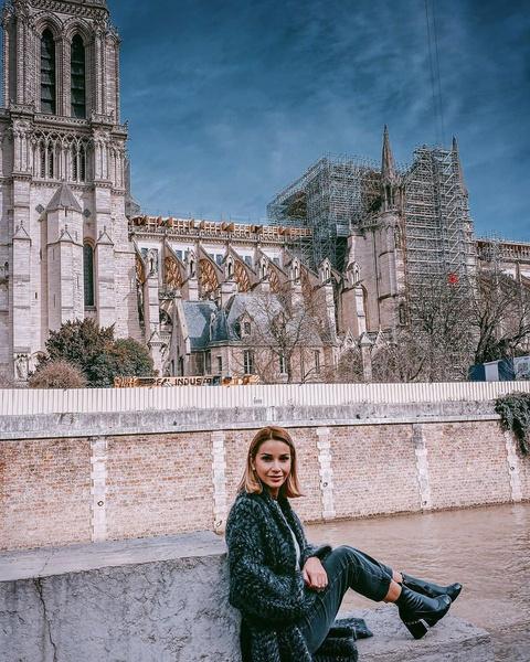 Ольга посмотрела на то, как реставрируют Собор Парижской Богоматери