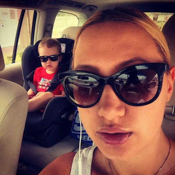 Алина Буре с сыном Павлом