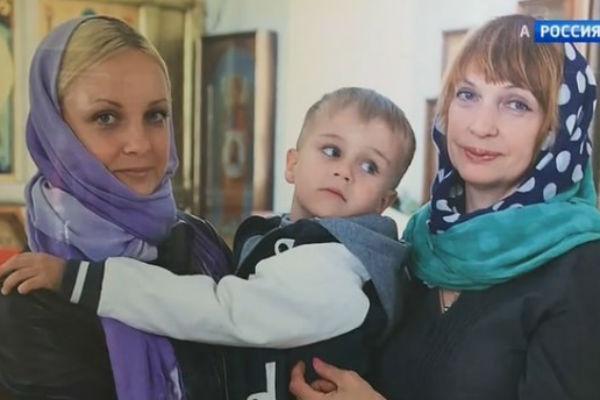 Дочь Михаила Евдокимова Анна с сыном и мамой