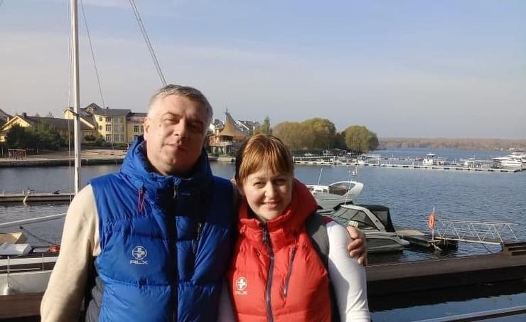 Мария Артемова с мужем