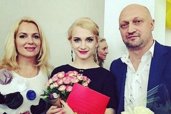 Гоша Куценко, Мария Порошина и их дочь Полина