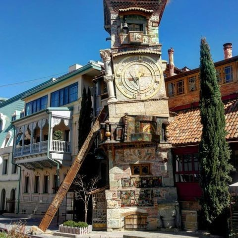 Знаменитый Тбилисский театр марионеток, основанный Резо Габриадзе в 1981 году