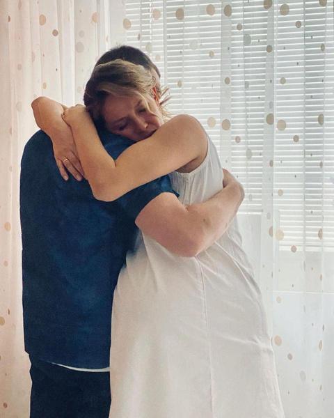 Супруг был рядом с Ольгой во время родов