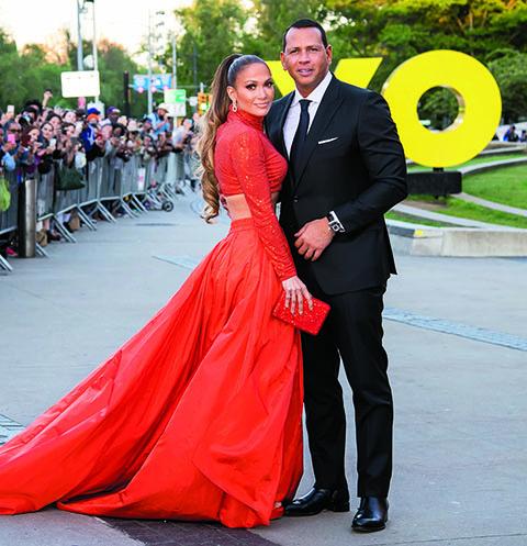 Джей Ло с женихом Алексом Родригесом