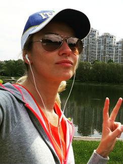 Екатерина Архарова предпочитает бегать по утрам