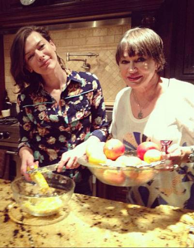 Милла с мамой Галиной Логиновой