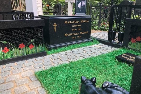 Ранее Ирина Макарова предоставила такие фотографии с кладбища