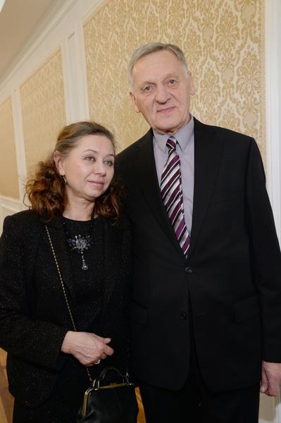 Миколас Орбакас и его жена