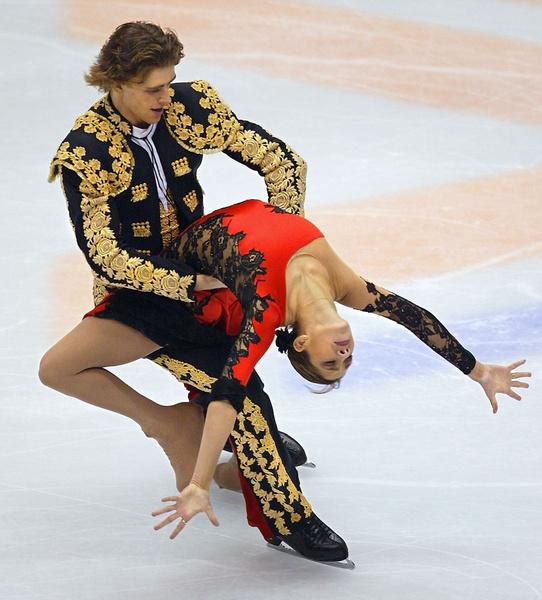 Выступление Наоми Ланг и Чернышева в 2002 году во время XIX зимних Олимпийских игр