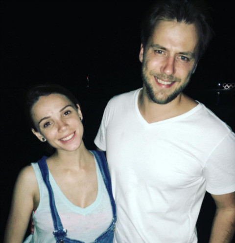 Иван Жидков с возлюбленной Лилией