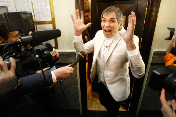 Бари Алибасов веселил гостей и журналистов