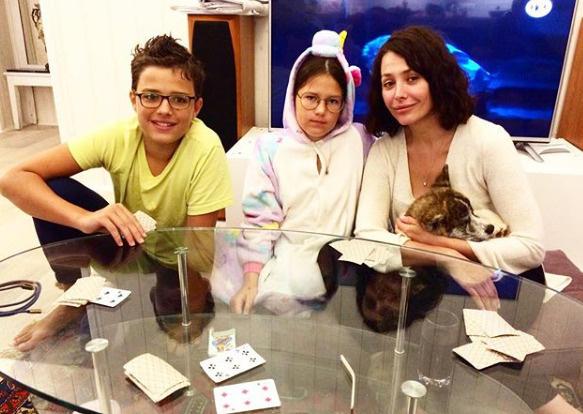 Екатерина с сыном Богданом и дочерью Александрой