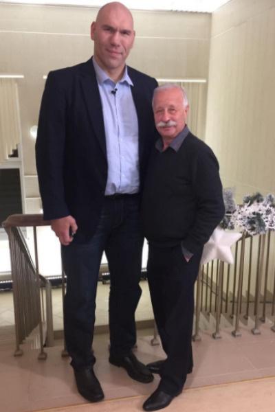 Николай Валуев и Леонид Якубович