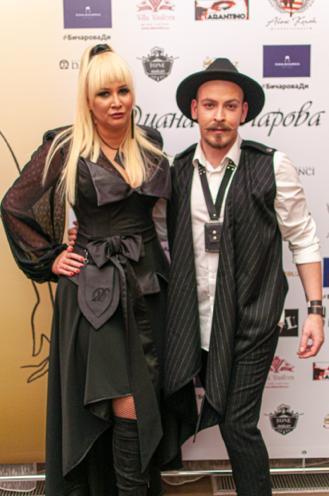 Диана с дизайнером Святославом Петровым