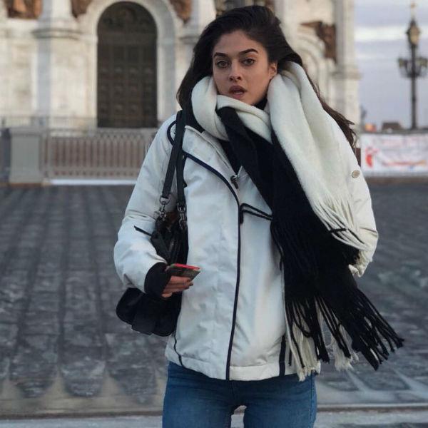 Барбара во время визита в Москву