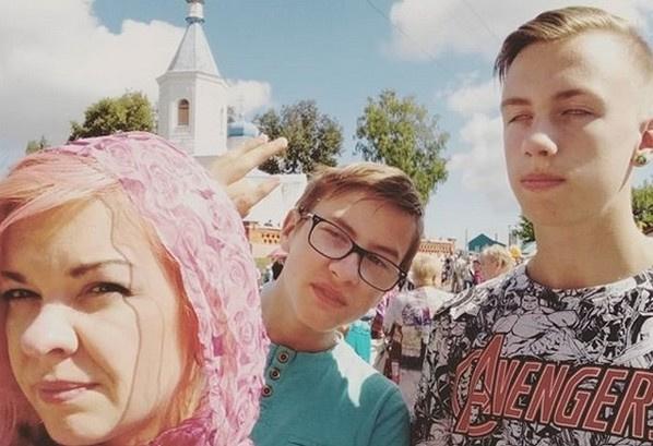 Наталья с сыновьями от Краско