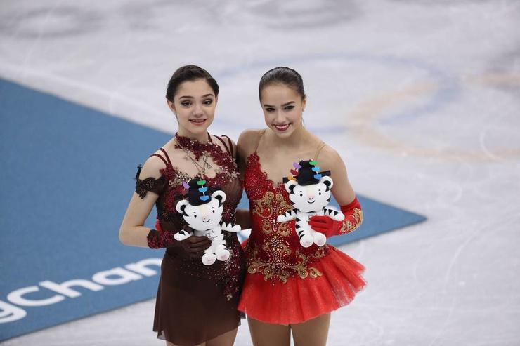 Женя Медведева и Алина Загитова
