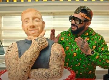 Торт с фигурой Крида, Джиган в смирительной рубашке: Тимати выпустил новый клип