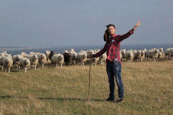 На съемках приходится пасти отары овец