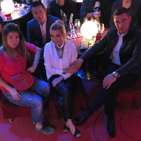 Ксения Бородина с мужем на съемках «Comedy Club»