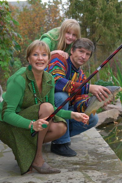 Елена Проклова с экс-супругом и дочерью