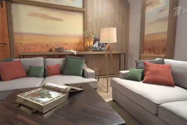 Диваны в гостиной в американском стиле