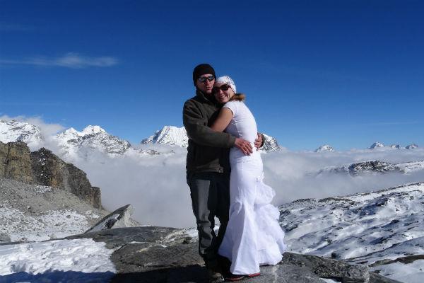 На пике Мера - 6500 метров над уровнем моря, 2014 год