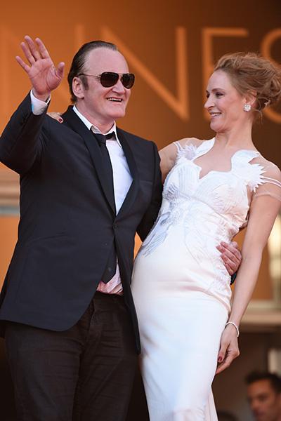 Квентин Тарантино и Ума Турман на фестивале в Каннах, 2014 год