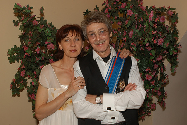 Актер с четвертой женой Екатериной Табашниковой