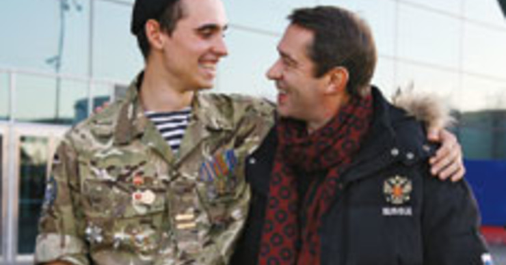 Владимир Машков  встретил сына Андрея  из армии