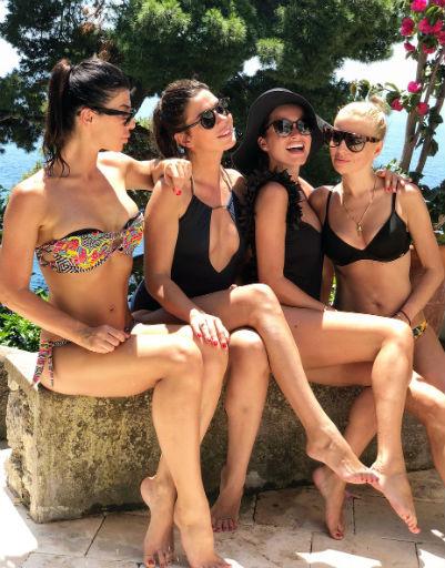 Ксения Бородина с подругами