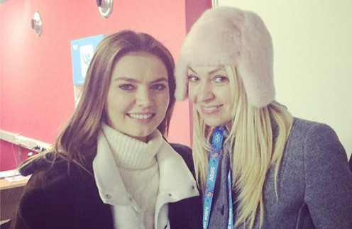 Яна Рудковская и Алина Кабаева болели за Плющенко