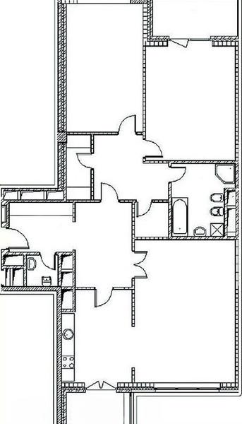 В квартире будут три жилые комнаты