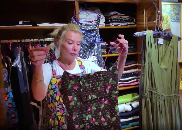 Актриса показала платье из фильма «Глянец»