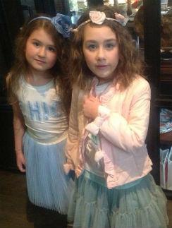 Амалия и дочка Дениса Клявера Эвелина
