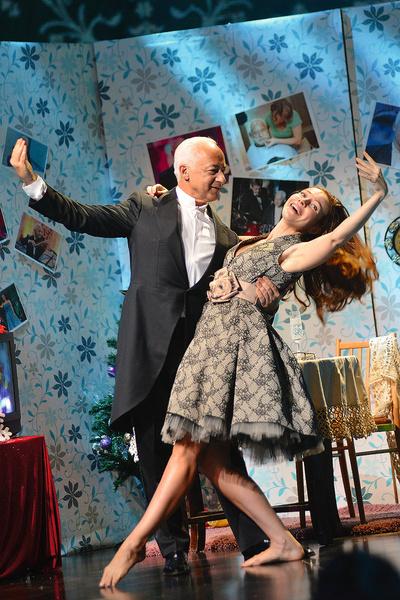 С Екатериной Гусевой на съемках новогодней программы канала «Культура»