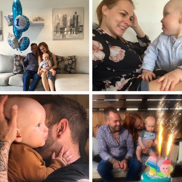 Семья Керро и Хансена отметила год сыну
