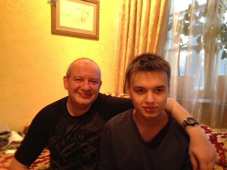 Дмитрий Марьянов с сыном Даниилом