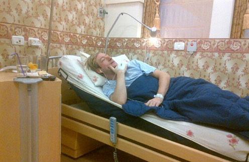Евгений Плющенко в израильской клинике