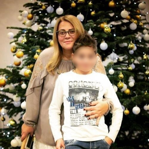 Елена Пинджоян с сыном