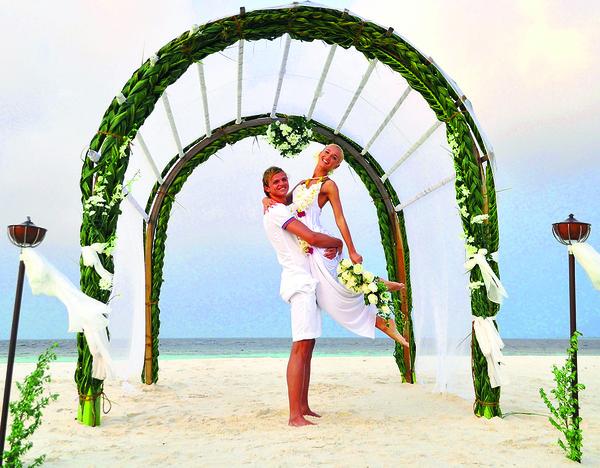 Медовый месяц с Дмитрием Тарасовым Ольга провела на Мальдивах