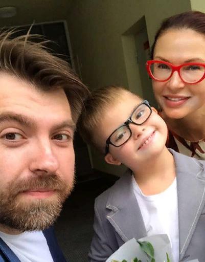 Эвелина Бледанс с бывшим супругом Александром Семиным и сыном Семеном